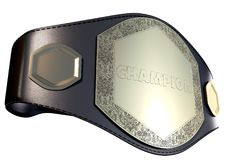 3D championship belt Stock Photo
