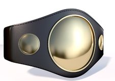 3D championship belt Royalty Free Stock Images