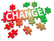 3d Change jigsaw Stock Images