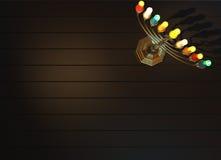3D Chanoeka menorah geeft terug Royalty-vrije Stock Afbeelding