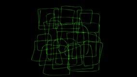 2d chaos pętli kreskówki FX paczki 4K 10 kształta elementy i Ciekli elementy włóczydło zmiana kolory i kropla, łatwo Pre royalty ilustracja