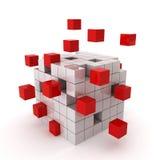 De chaos van de kubus Stock Afbeeldingen