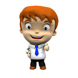 3d character - Businessman doing ok sign Royalty Free Stock Photography