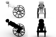 3d character cannon concept collections with alpha and shadow channel Stock Image
