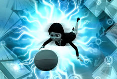 3d character catch ball illustration Royalty Free Stock Photos