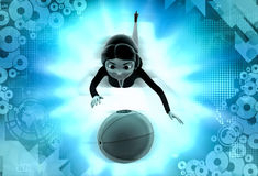 3d character catch ball illustration Stock Photo