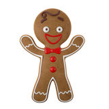 3d character, cheerful gingerbread, Christmas funny decoration, Royalty Free Stock Images