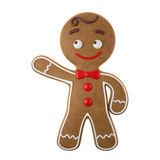 3d character, cheerful gingerbread, Christmas funny decoration, Stock Photo