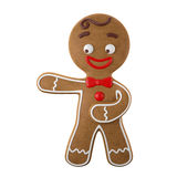 3d character, cheerful gingerbread, Christmas funny decoration, Stock Images