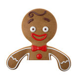 3d character, cheerful gingerbread, Christmas funny decoration, Royalty Free Stock Photos
