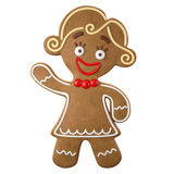 3d character, cheerful gingerbread, Christmas funny decoration,. Baked sweet candy, baby boy with frosting, funny fresh addition isolated on white background vector illustration