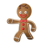 3d character, cheerful gingerbread, Christmas funny decoration, Royalty Free Stock Image