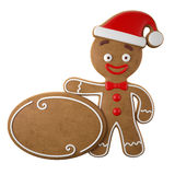 3d character, cheerful gingerbread, Christmas funny decoration, Stock Image