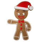 3d character, cheerful gingerbread, Christmas funny decoration, Stock Photos