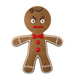 3d character, cheerful gingerbread, Christmas funny decoration,. Baked sweet candy, baby with frosting, funny fresh addition isolated on white background Royalty Free Stock Photos