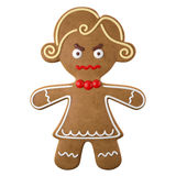 3d character, cheerful gingerbread, Christmas funny decoration,. Baked sweet candy, baby with frosting, funny fresh addition isolated on white background Stock Photography