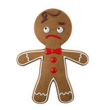 3d character, cheerful gingerbread, Christmas funny decoration, Royalty Free Stock Photo