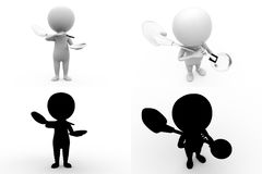 3d character conctruction worker concept collections with alpha and shadow channel Stock Photography
