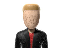 3D character cracked Royalty Free Stock Photo