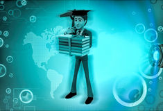 3d character engineering graduate illustration Royalty Free Stock Photography