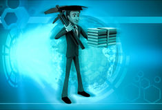 3d character engineering graduate illustration Stock Image