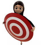 3d character holding target board concept Stock Photo