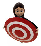 3d character holding target board concept Royalty Free Stock Images