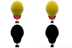3d character hot air balloon concept collections with alpha and shadow channel Royalty Free Stock Image
