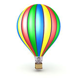 3D Character in Hot Air Balloon Stock Image