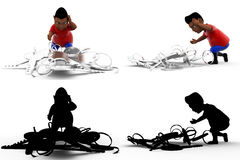 3d character keys concept collections with alpha and shadow channel Royalty Free Stock Photos