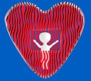 3d character , man love , valentine royalty free illustration