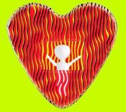 3d character , man love , valentine vector illustration