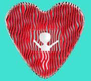 3d character , man love , valentine stock illustration
