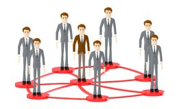 3d character , man people standing in a connected loops stock illustration