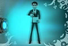 3d character note down illustration Royalty Free Stock Photos