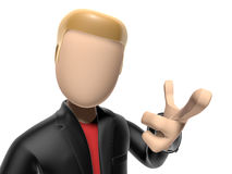 3D character pointing to you Stock Photos