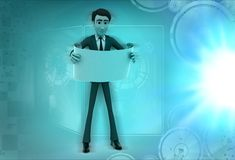 3d character read scroll illustration Royalty Free Stock Image