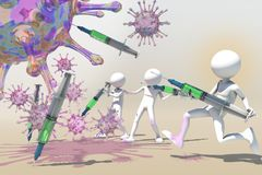 Antibodies stock illustration