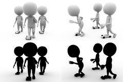 3d character skate concept collections with alpha and shadow channel Stock Photography