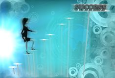 3d character success illustration Stock Photography