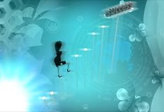 3d character success illustration Royalty Free Stock Images