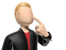 3D character on white background Royalty Free Stock Image