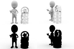 3d character tire rim tool concept collections with alpha and shadow channel Stock Photos