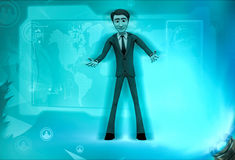 3d character welcoming illustration Royalty Free Stock Photography