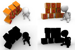 3d character you can do it concept collections with alpha and shadow channel Stock Photo