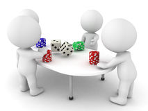 3D Characters playing a gambling game Royalty Free Stock Photography