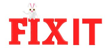 3d Charakter, Kaninchen - reparieren Sie ihn lizenzfreie abbildung