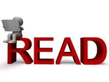3d charakteru czytanie Pokazuje intelekt ilustracja wektor