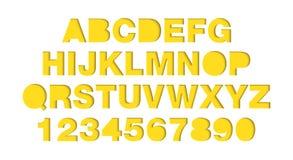 3d charaktery odizolowywający, origami typeface dla logo Ciie za nożycach od papieru royalty ilustracja