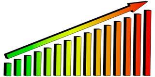 3D Chart diagram arrow lift Stock Photography